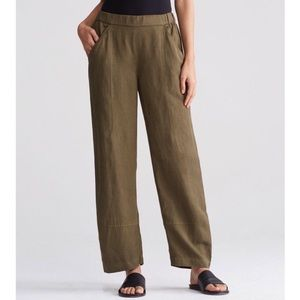 Eileen Fisher Lantern Linen Ankle Pants